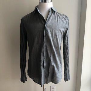 John Varvatos grey long sleeve button down